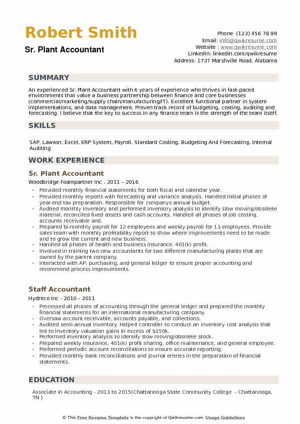 plant accountant resume samples qwikresume core competencies for accounting pdf Resume Core Competencies For Accounting Resume