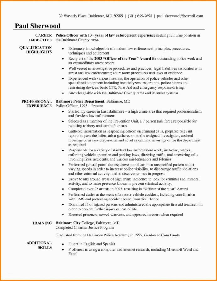 police officer resume templates free retired off objective examples statement name header Resume Police Officer Resume Examples