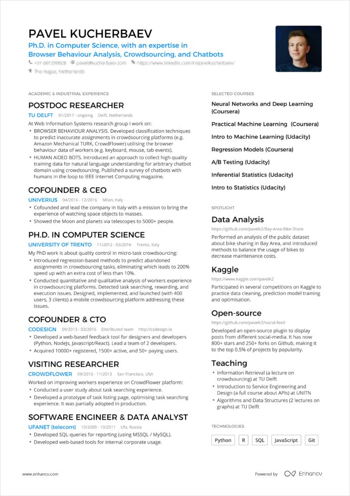 powerful one resume examples you can use now format pavel booking bordered min muldskud Resume One Page Resume Format