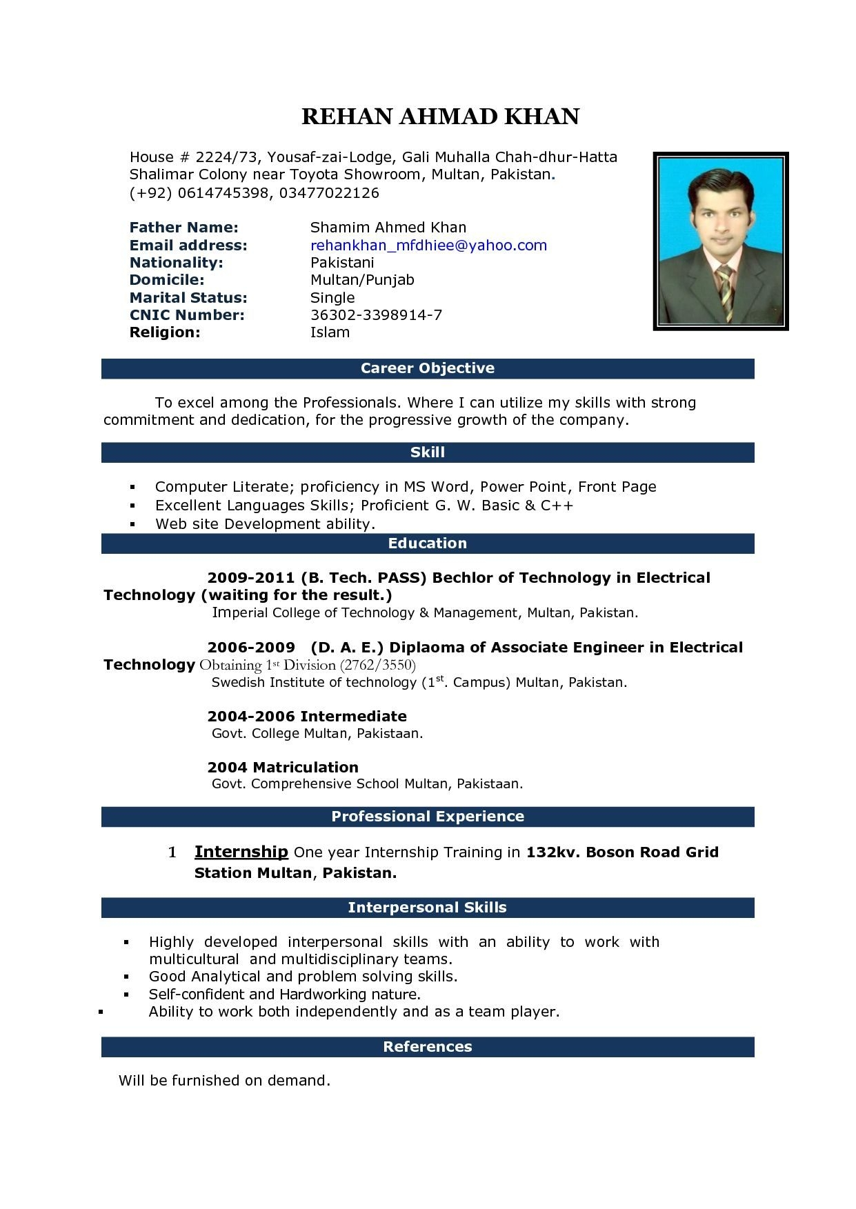 powerful resume format of for fresher in ms word pdf my blog or best look professional Resume Resume Format Pdf Or Word