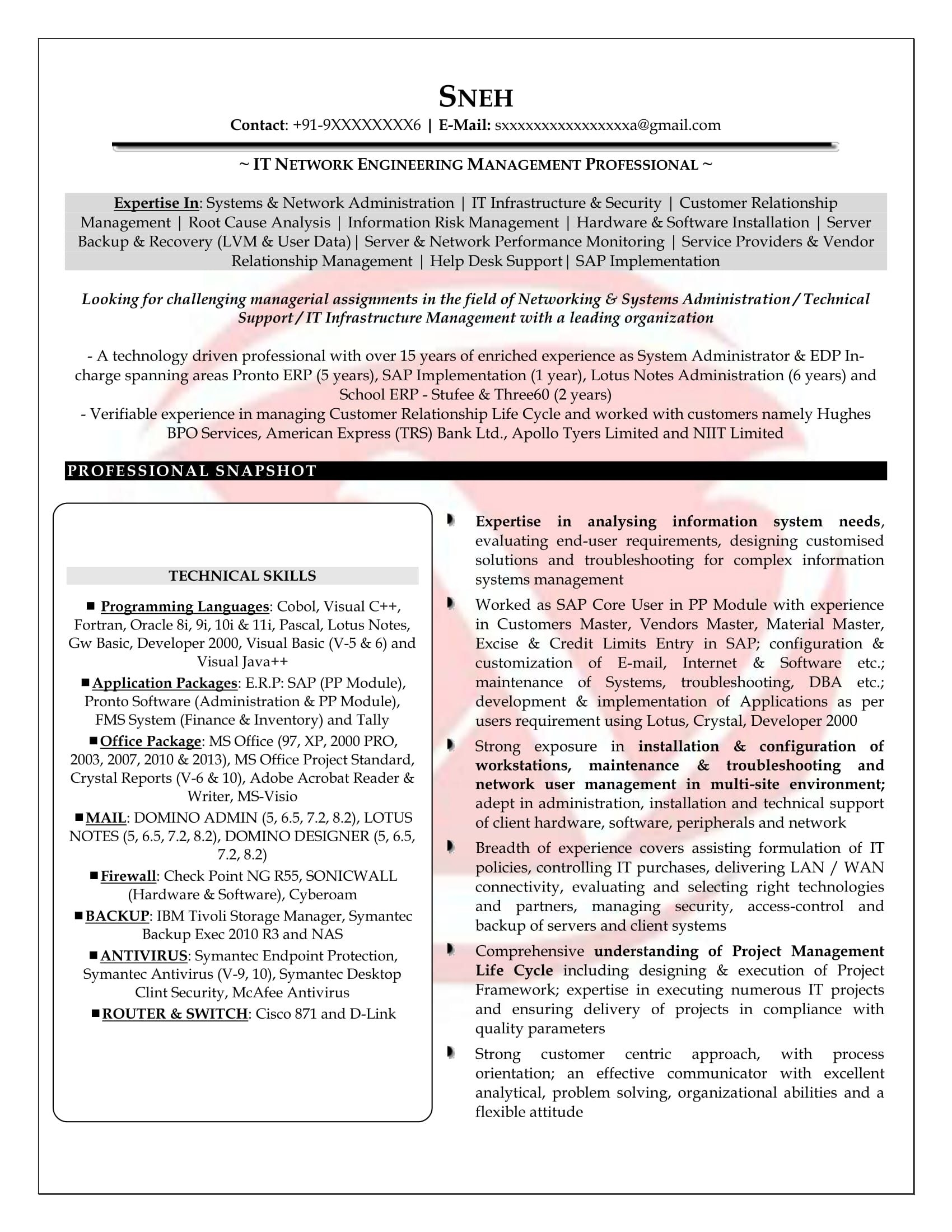 powerful resume network engineer with year experience office templates my blog field Resume Network Field Engineer Resume