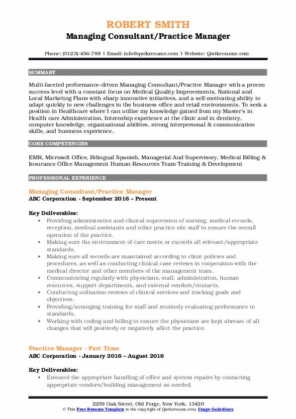 practice manager resume samples qwikresume medical office pdf self employed contractor Resume Medical Office Manager Resume Samples