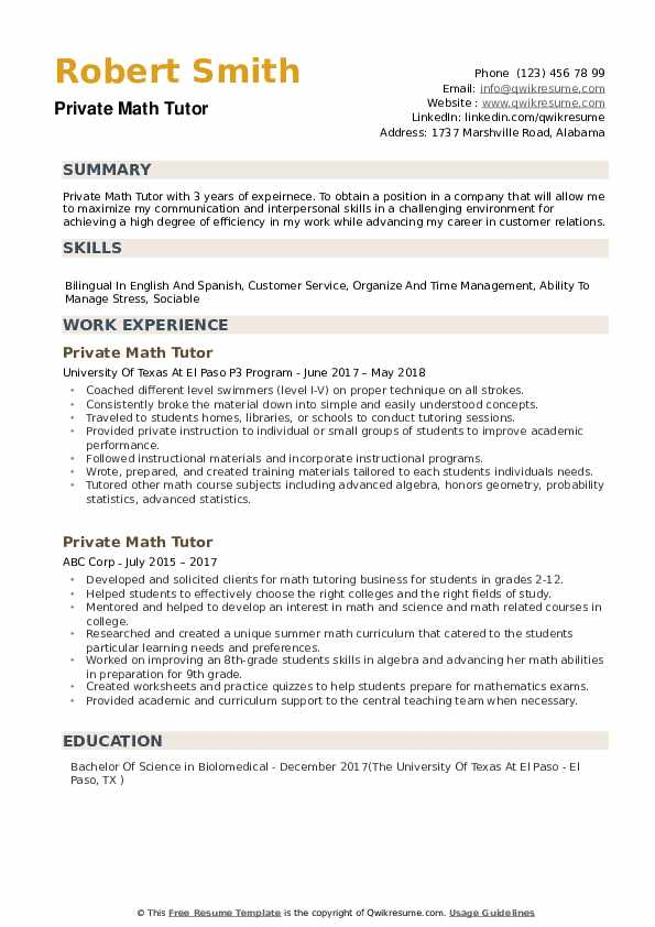 private math tutor resume samples qwikresume description pdf assistant project manager Resume Math Tutor Description Resume