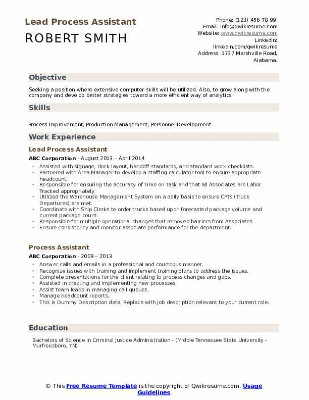 process assistant resume samples qwikresume pdf entry level business analyst indeed Resume Process Assistant Resume