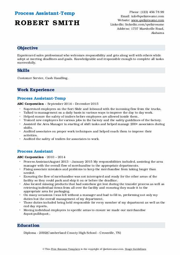 process assistant resume samples qwikresume pdf most accepted format patient companion Resume Process Assistant Resume