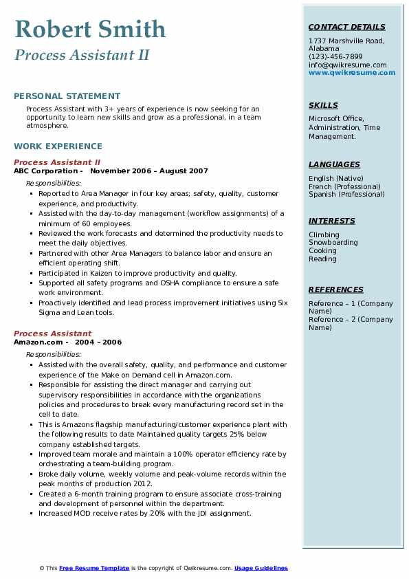 process assistant resume samples qwikresume pdf patient companion job for high school Resume Process Assistant Resume