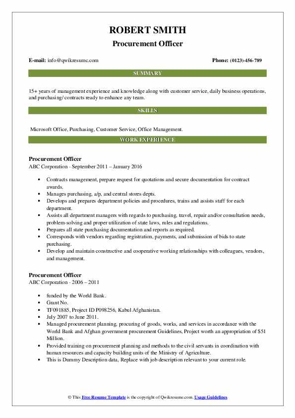 procurement officer resume samples qwikresume senior manager pdf ats friendly template Resume Senior Procurement Manager Resume