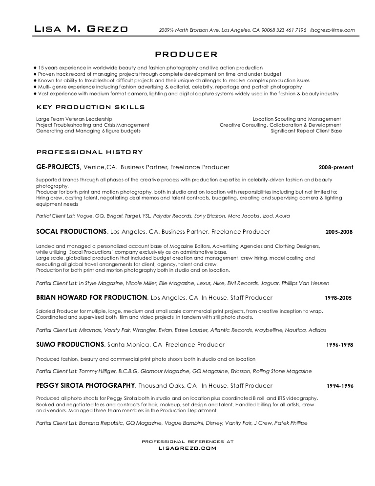 producer resume commercial producerresume phpapp02 thumbnail get reviewed creating Resume Commercial Producer Resume