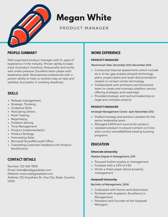 product manager resume samples templates pdf resumes bot template sample writing for Resume Product Manager Resume Template