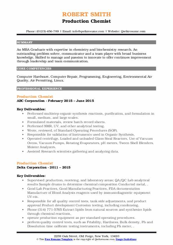 production chemist resume samples qwikresume sample pdf cover title for distribution Resume Production Chemist Resume Sample