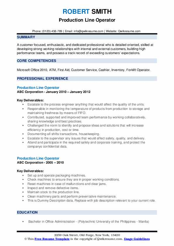 production line operator resume samples qwikresume assembly pdf dos and don ts childcare Resume Assembly Line Operator Resume