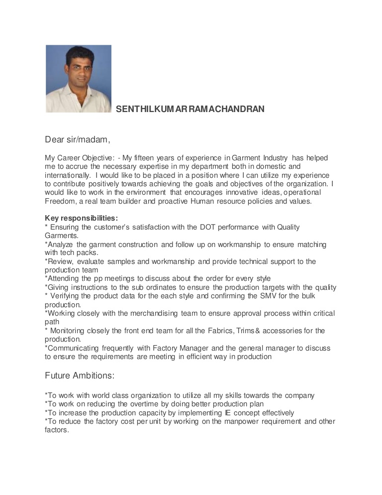 production manager resume garment factory thumbnail customer service trainer sample Resume Garment Factory Manager Resume