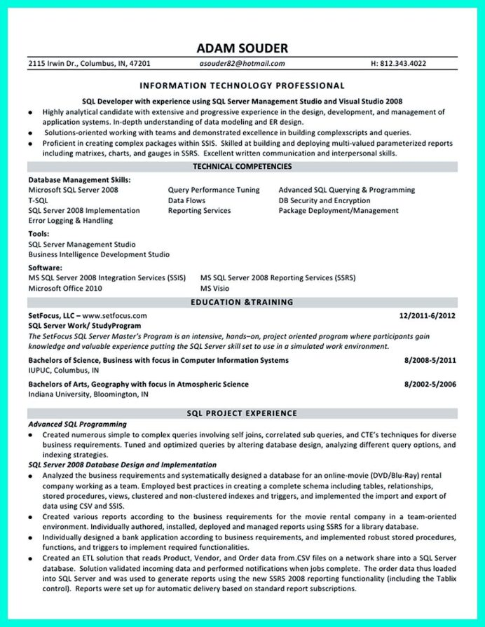 professional database developer resume must written examples job sample tips for hoppers Resume Database Developer Resume Sample