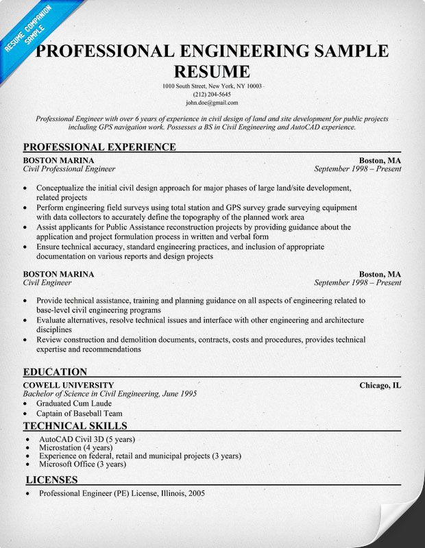 professional engineering resume sample companion examples medical template samples Resume Professional Engineer Resume Sample