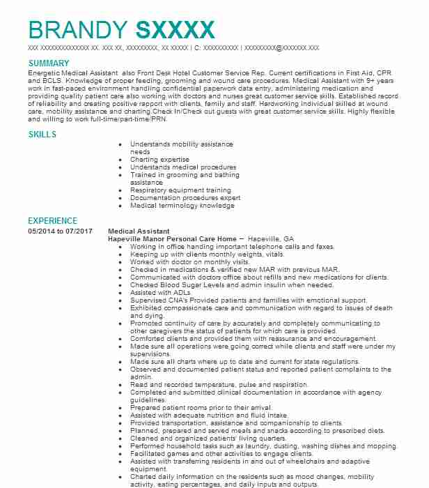 professional medical assistant resume examples healthcare support livecareer objective Resume Resume Objective For Healthcare Job