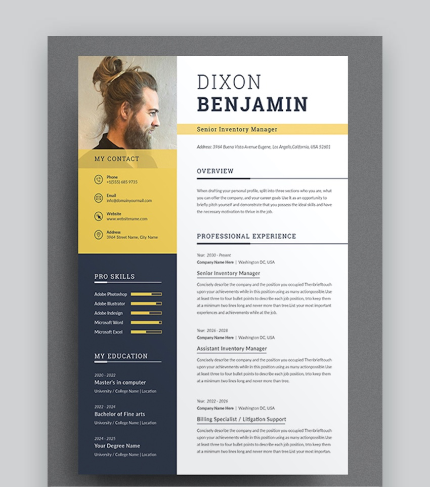 professional ms word resume templates cv design formats modern template banking domain Resume Word 2020 Resume Templates