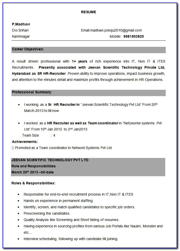 professional resume template free samples examples format for experienced professionals Resume Experienced Professional Resume Format
