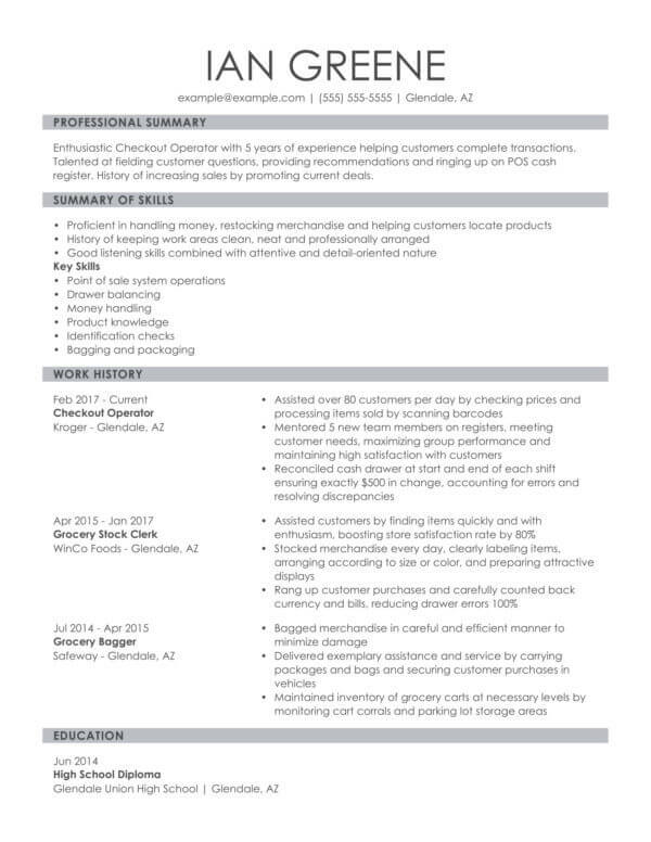 professional retail resume examples livecareer career summary knowledgeable combo Resume Resume Career Summary Examples