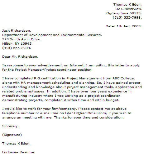 project manager cover letter examples resume now dietary aide job description for Resume Project Manager Resume Cover Letter Examples