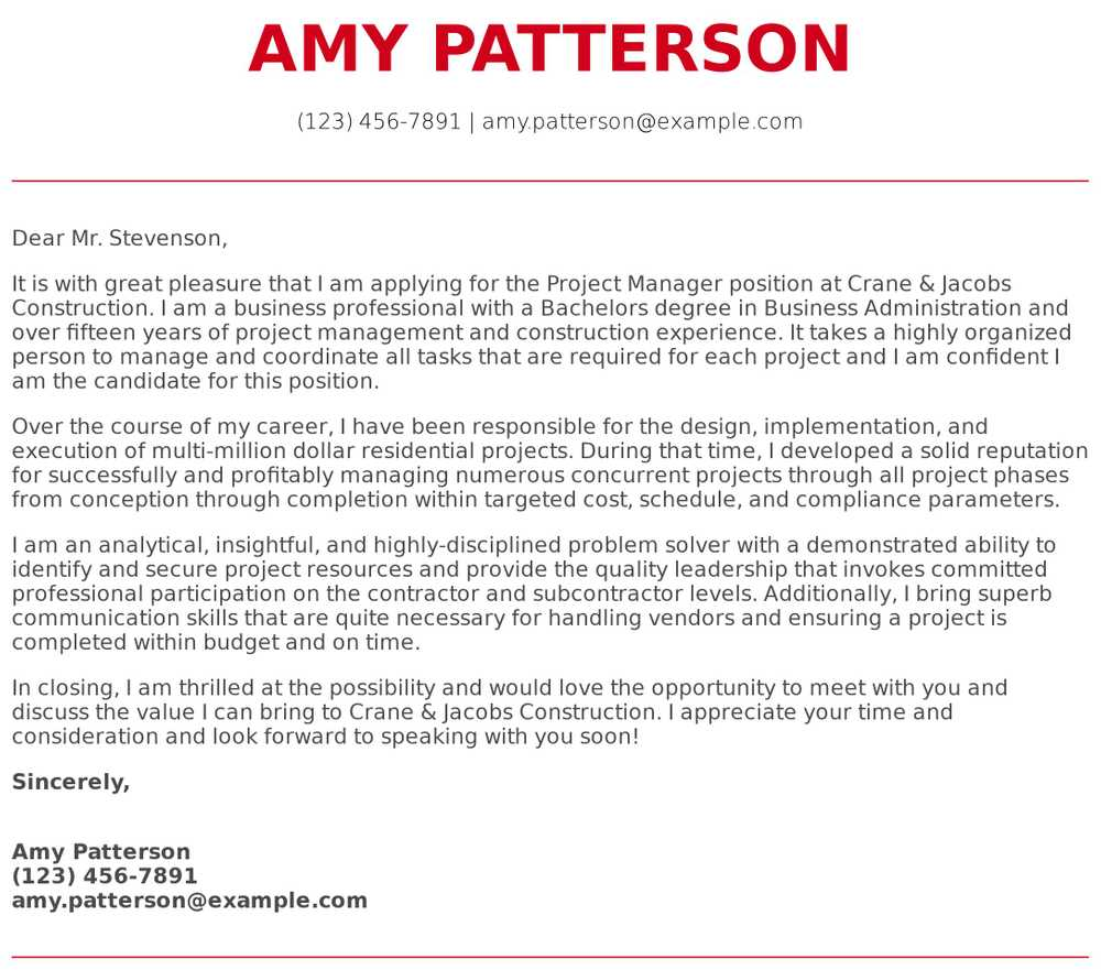 project manager cover letter examples samples templates resume reason for leaving on Resume Project Manager Resume Cover Letter Examples
