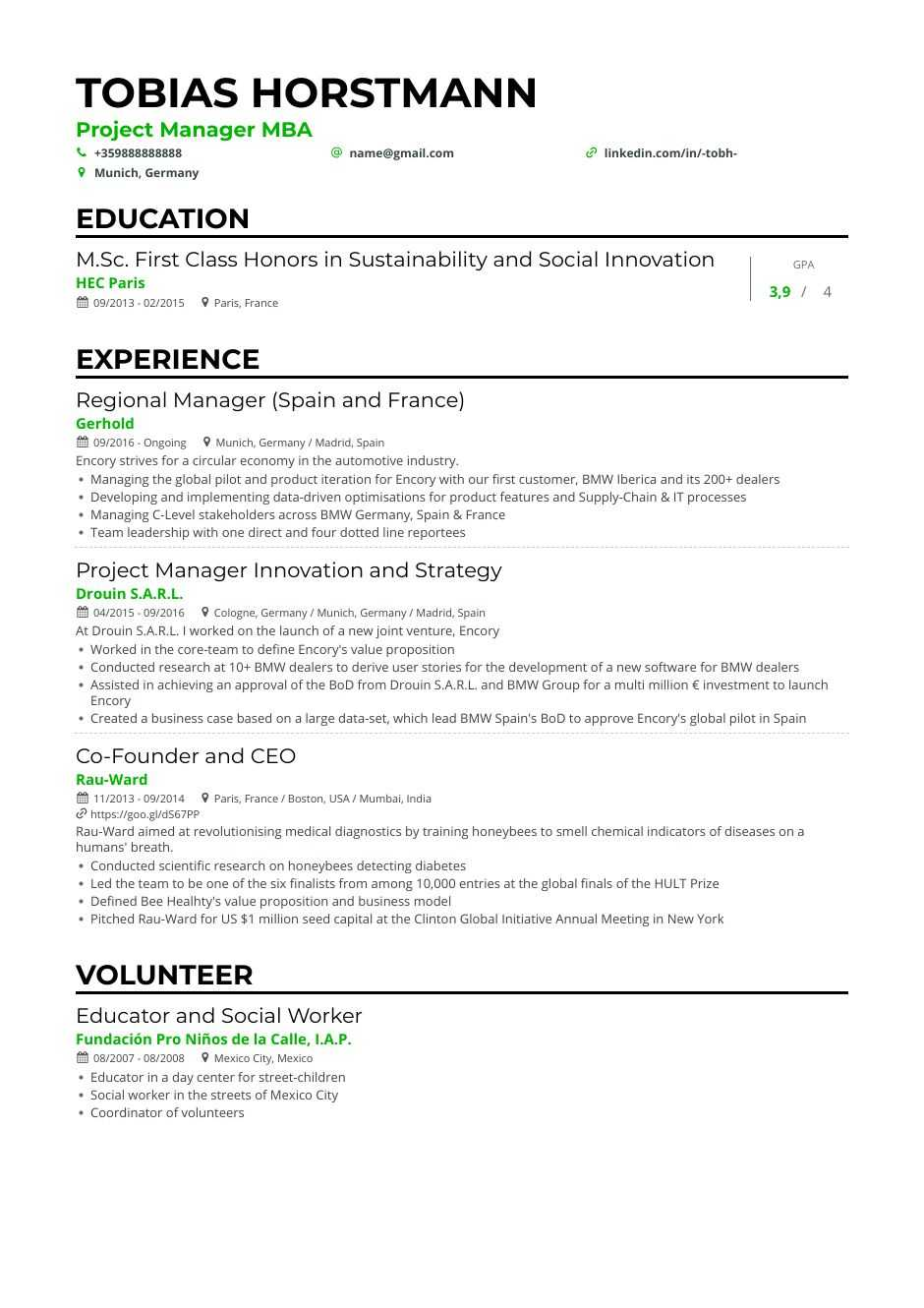 project manager resume examples guide expert tips for generated resumes college student Resume Project Manager Resume Examples