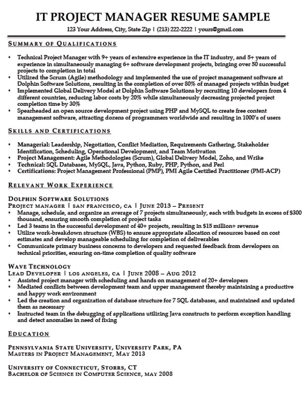 project manager resume writing service sample for pmp certified summary maintenance man Resume Project Manager Resume Summary