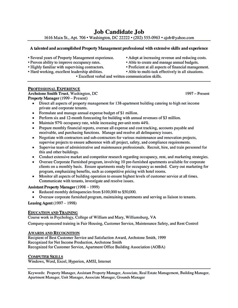 property manager resume sample and tips skills examples temp job description government Resume Property Manager Resume Examples
