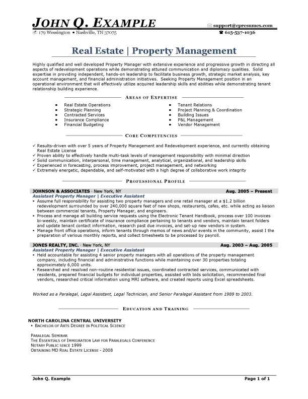 property manager resume sample resumesdesign management estate example email writing for Resume Estate Manager Resume Example