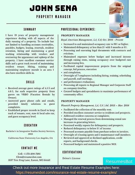 property manager resume samples templates pdf resumes bot examples example nvh engineer Resume Property Manager Resume Examples