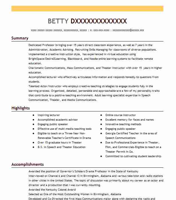 public speaking instructor resume example company name albuquerque new skills on personal Resume Public Speaking Skills On Resume