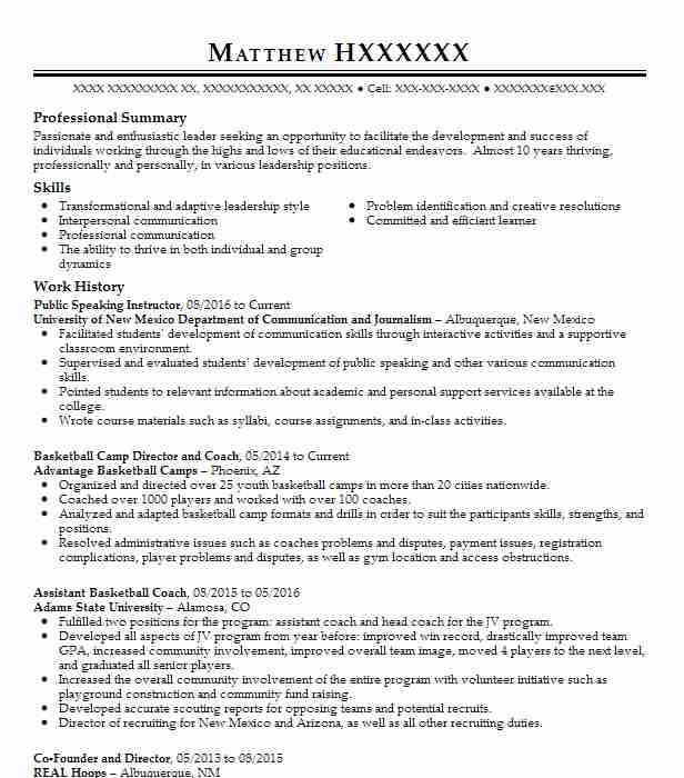 public speaking resume example company name carlsbad skills on project manager sample Resume Public Speaking Skills On Resume