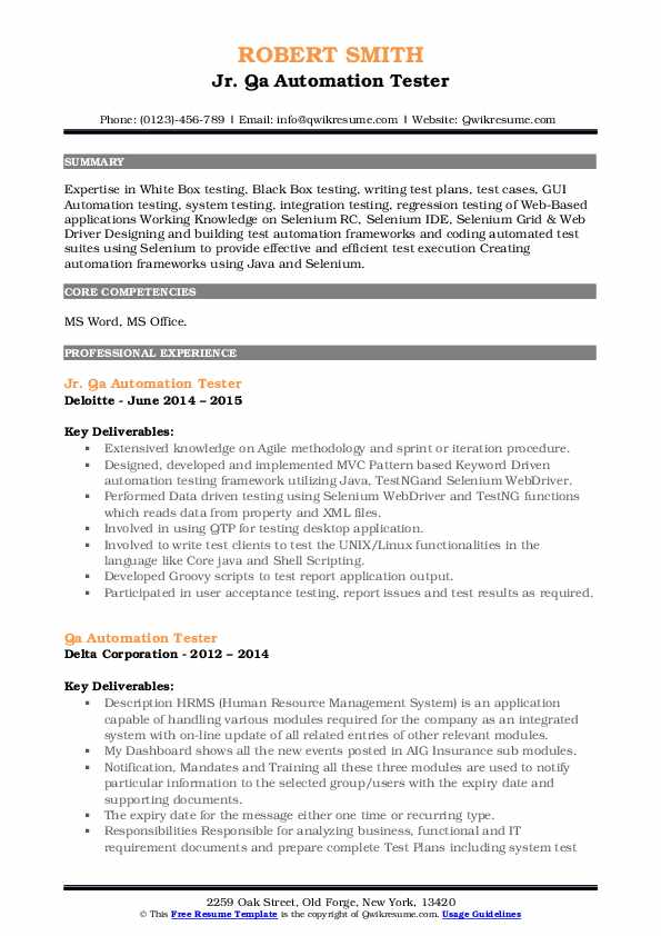 qa automation tester resume samples qwikresume pdf templates for older professionals free Resume Automation Tester Resume