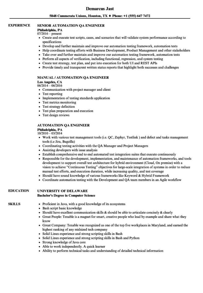 qa tester resume examples and complete guide tips automation example zety most effective Resume Automation Tester Resume