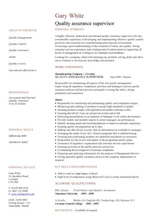 quality assurance cv sample resume pic template customer support analyst etsy natural gas Resume Quality Assurance Resume Sample