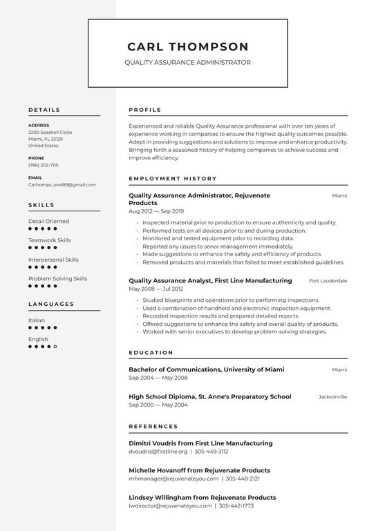 quality assurance resume examples writing tips free guide sample itouch reviews name Resume Quality Assurance Resume Sample