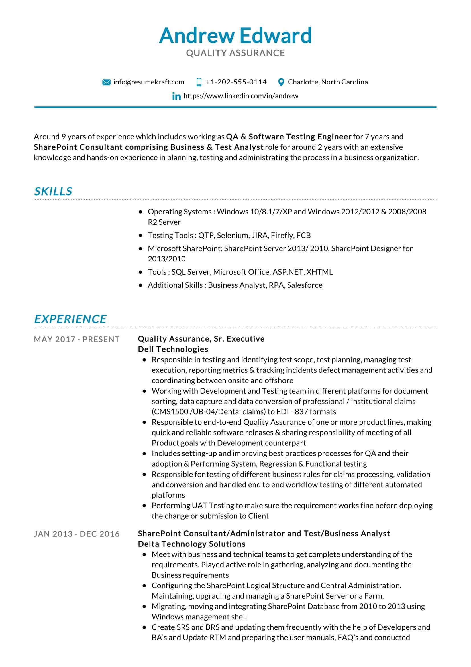 quality assurance resume sample resumekraft itouch reviews of elon musk currently Resume Quality Assurance Resume Sample