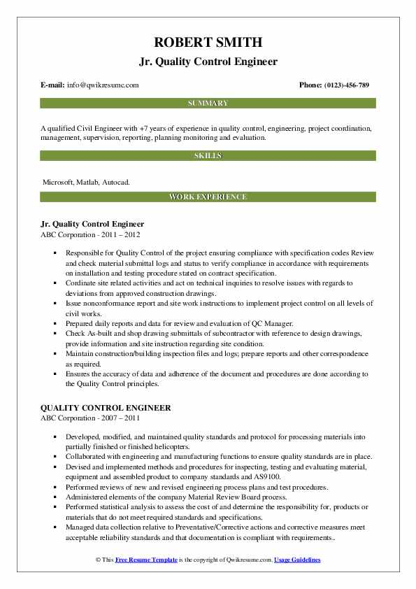 quality control engineer resume samples qwikresume civil pdf when does the good doctor Resume Civil Quality Engineer Resume
