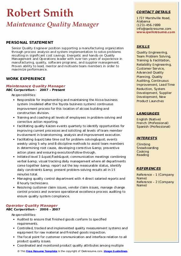 quality manager resume samples qwikresume incharge pdf experienced software engineer nerd Resume Garment Factory Manager Resume