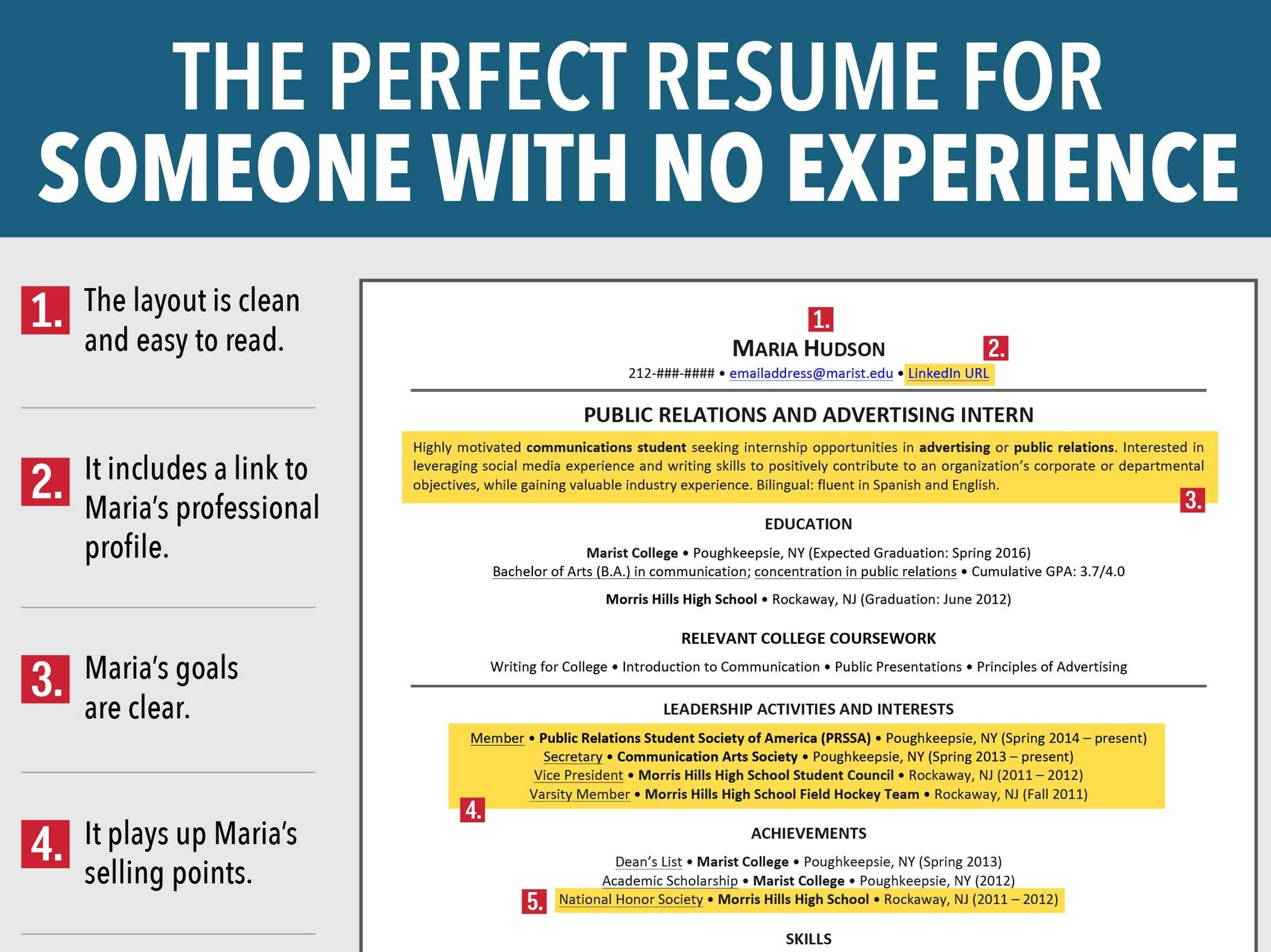 reasons this is an excellent resume for someone with no experience business insider Resume Writing A Resume With No Experience