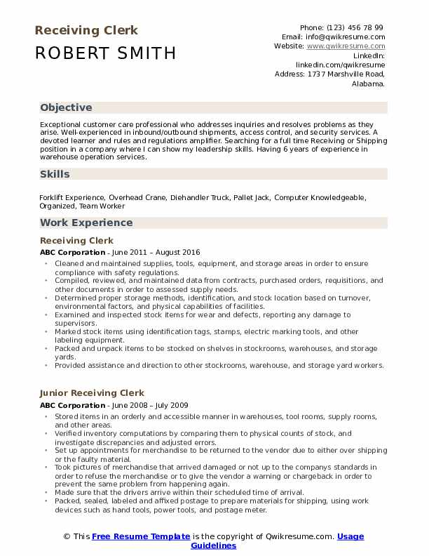 receiving clerk resume samples qwikresume duties for pdf physician assistant examples Resume Receiving Clerk Duties For A Resume