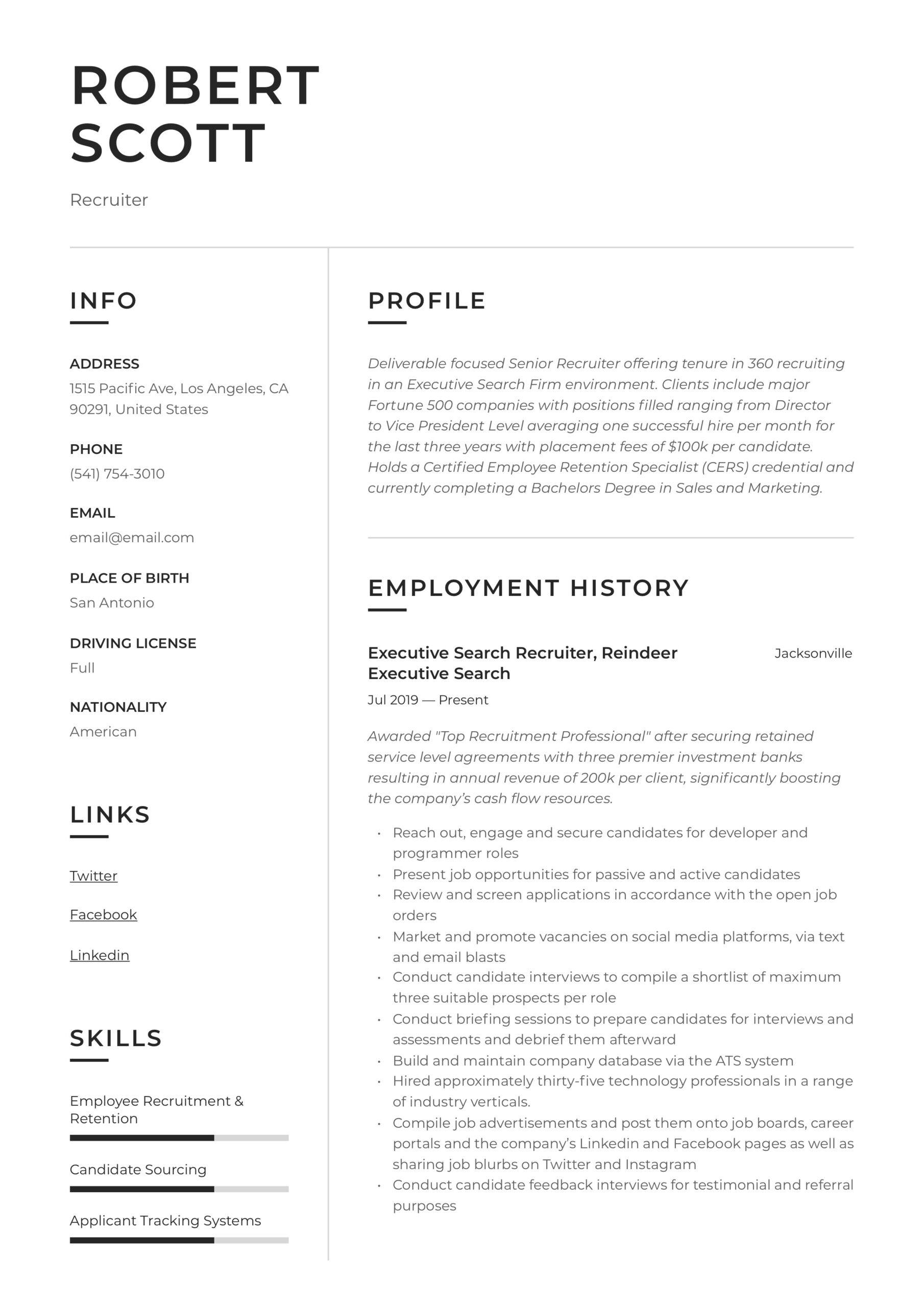 recruiter resume writing guide pdf examples military another word for coordinator on Resume Military Recruiter Resume