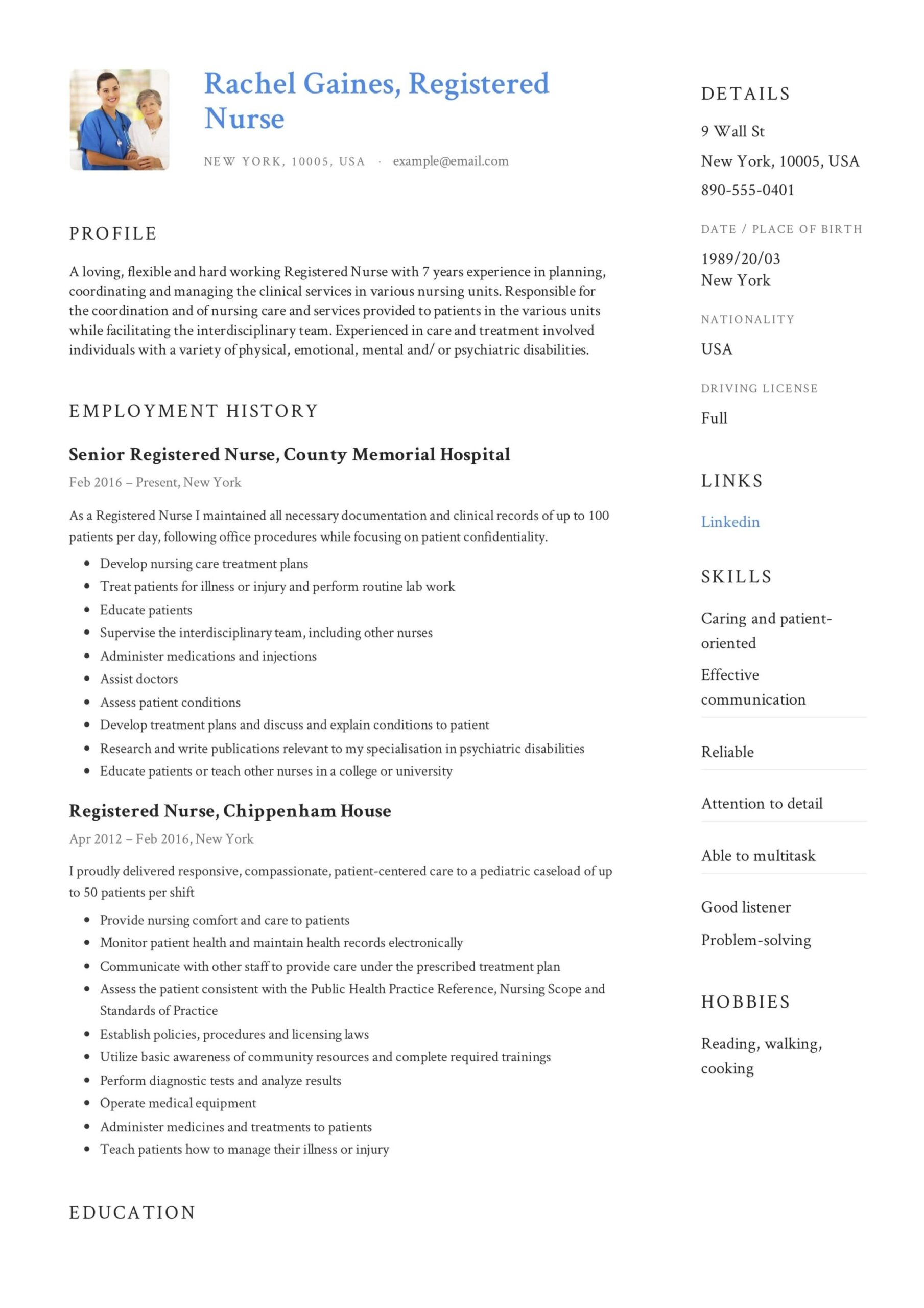 registered nurse resume sample writing guide samples pdf experienced example claims Resume Experienced Registered Nurse Resume