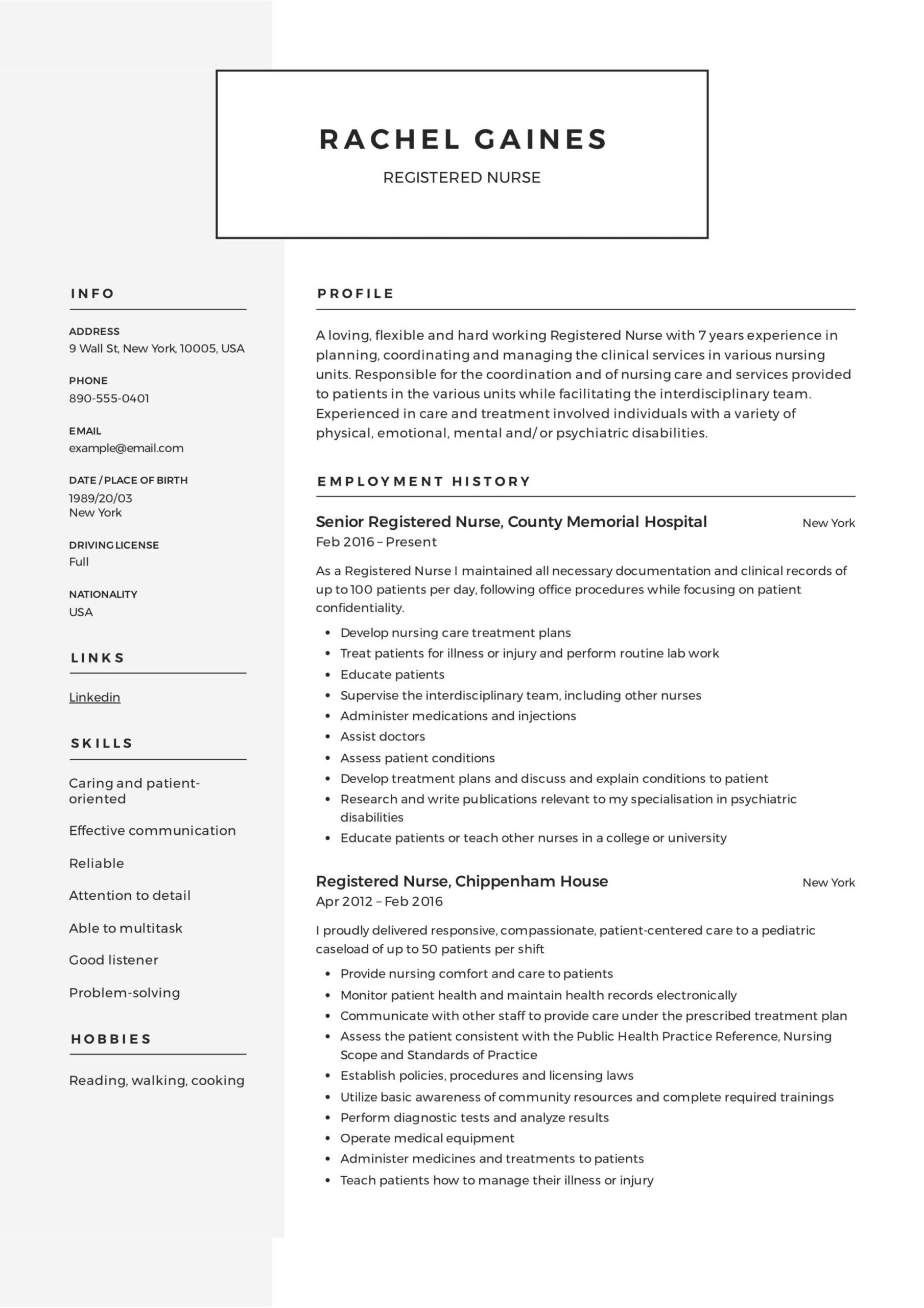 registered nurse resume sample writing guide samples pdf template example administrative Resume Registered Nurse Resume Template