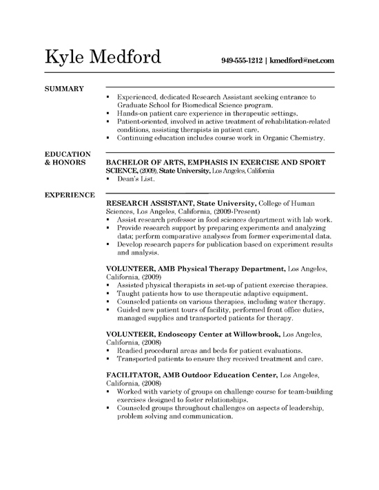 research assistant resume example sample grad1a free database software for recruiters Resume Research Assistant Resume