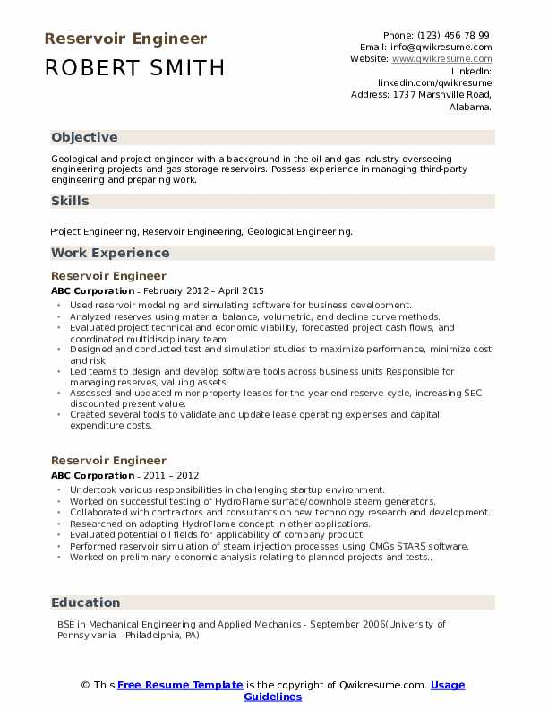 reservoir engineer resume samples qwikresume oil gas pdf front desk responsibilities Resume Oil & Gas Resume Samples