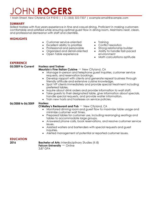 restaurant server resume examples job summary fine dining professional services example Resume Fine Dining Server Resume