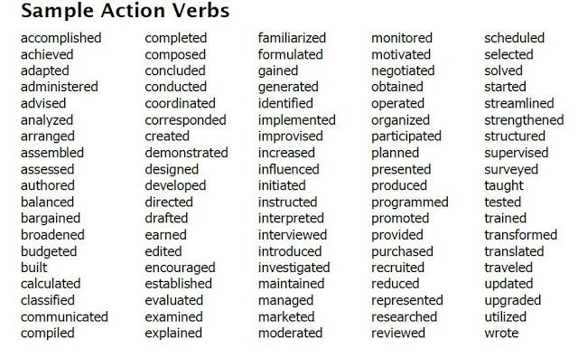resume and cover letter action verbs wikitopx for skills to include in your veteran Resume Verbs For Resume Skills