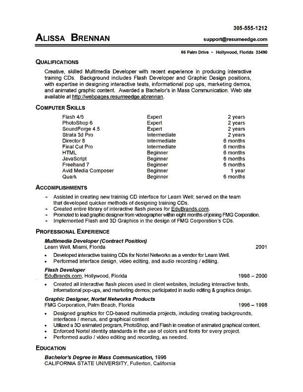 resume basic computer skills examples sample resumes section kerja contoh for entry level Resume Basic Computer Skills Resume Sample