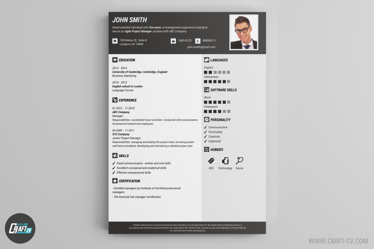 resume builder templates craftcv creative professional examples graduate school help for Resume Creative Professional Resume Examples