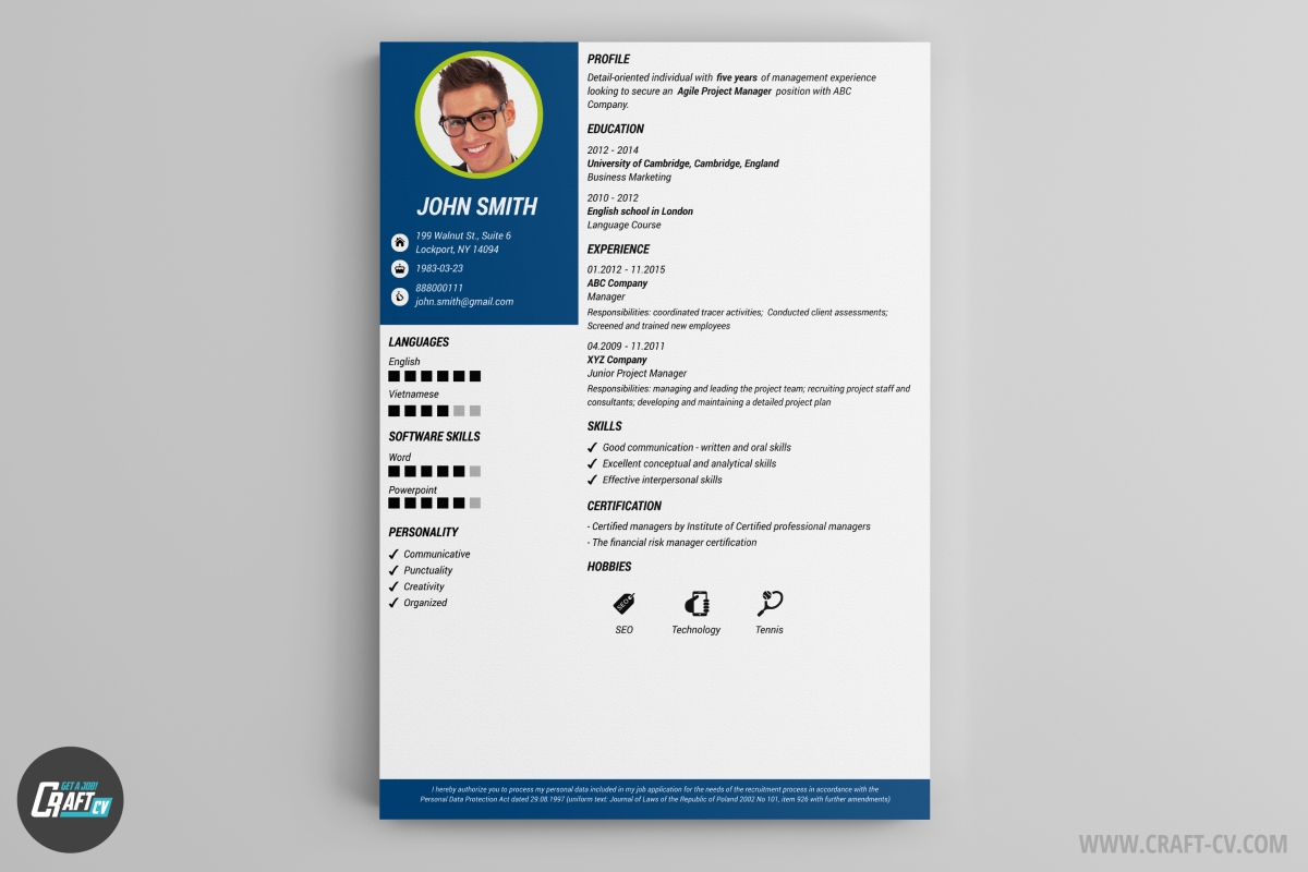 resume builder templates craftcv template maker free occupational therapy examples for Resume Resume Template Maker Free